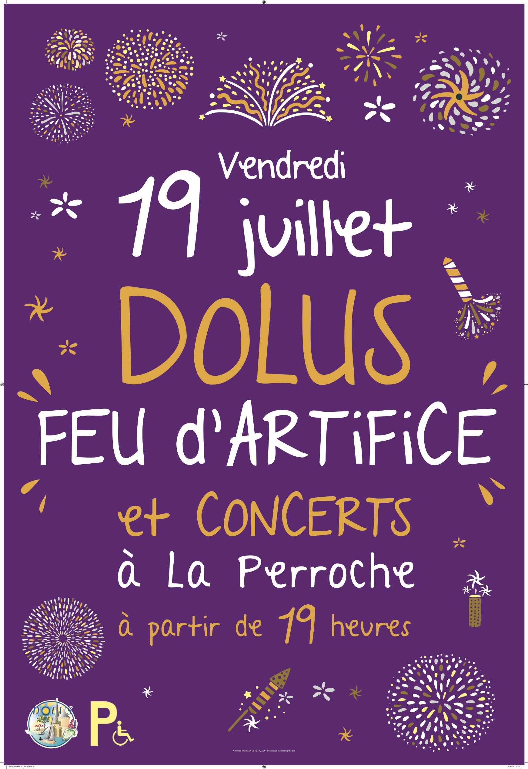 Feu d'artifice, concerts
